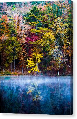Colors In Early Morning Fog Canvas Print by Parker Cunningham