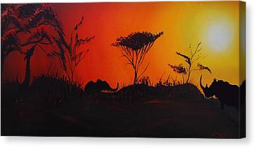Colors Of Africa 45 Canvas Print by Portland Art Creations