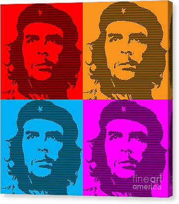 Colors Of Che No.7 Canvas Print by Bobbi Freelance