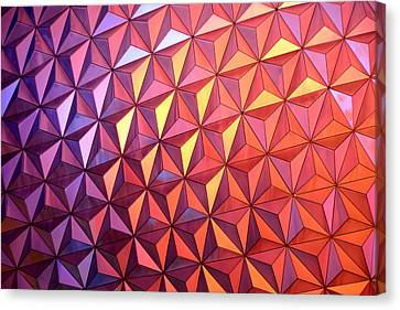Colors Of Epcot Canvas Print by David Lee Thompson