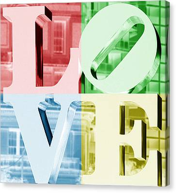 Colors Of Love Philadelphia Pa Canvas Print by Terry DeLuco