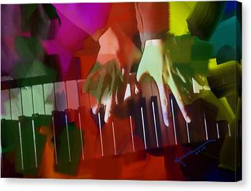 Colors Of Music Canvas Print by Kume Bryant