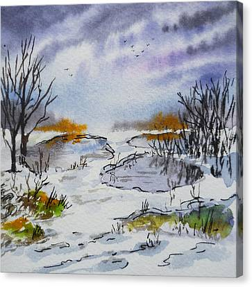 Colors Of Russia Spring Canvas Print by Irina Sztukowski