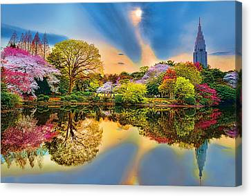 Colors Of Spring Canvas Print by Midori Chan