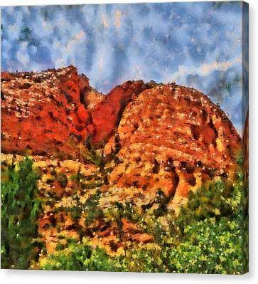 Colors Of Zion Canvas Print by Dan Sproul