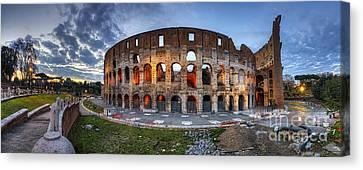 Colosseo Panorama Canvas Print by Yhun Suarez