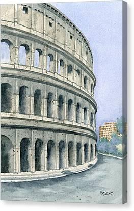 Colosseum Canvas Print by Marsha Elliott