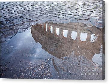 Colosseum Reflection Canvas Print by Matteo Colombo