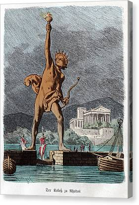 Colossus Of Rhodes Canvas Print by Cci Archives