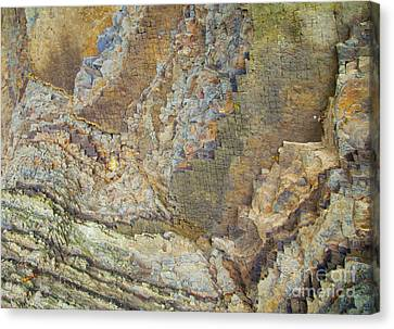 Colour Jagged Rock Canvas Print by Graham Foulkes