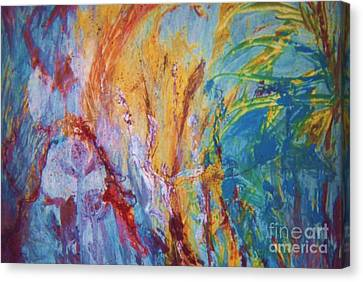 Colourful Abstract Canvas Print by Ann Fellows