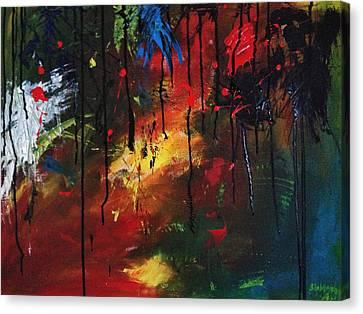Colourful Tears Canvas Print by Shakhenabat Kasana