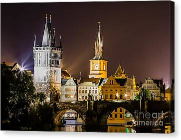 Colours Of Prague- B Canvas Print by Rhonda Krause