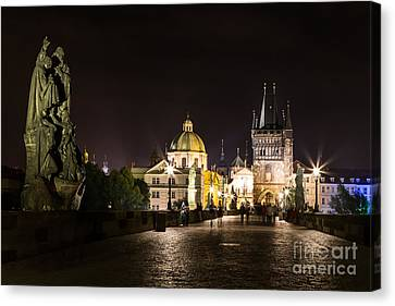 Colours Of Prague- C Canvas Print by Rhonda Krause