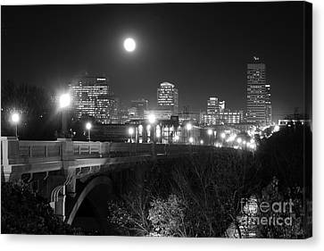 Columbia Skyline At Night Canvas Print by Joseph C Hinson Photography