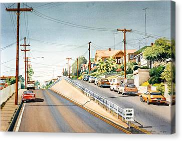 Columbia Street Middletown Canvas Print by Mary Helmreich