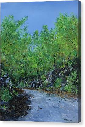 Columbia Trail Canvas Print by Ken Ahlering