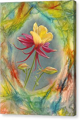 'columbine In Abstract' Canvas Print by Paul Krapf
