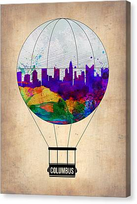 Columbus Air Balloon Canvas Print by Naxart Studio