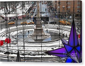 Columbus Circle View Canvas Print by Andrea Simon