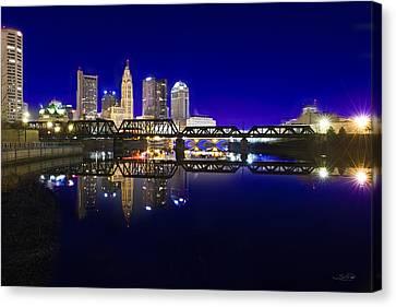 Columbus - City Reflection Canvas Print by Shane Psaltis
