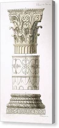 Column And Capital Canvas Print by English School