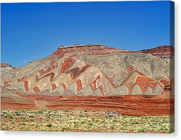 Comb Ridge Utah Near Mexican Hat Canvas Print by Christine Till