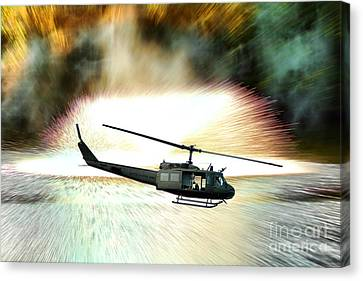 Combat Helicopter Canvas Print by Olivier Le Queinec