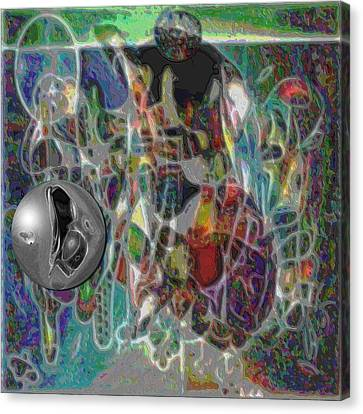 Combination Based On Steppinwolf And Vision Pastel Paintings Canvas Print by George Curington