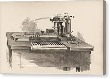 Combined Printer-telegraph Canvas Print by King's College London