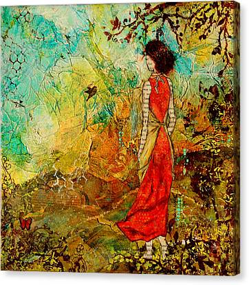 Come Back Home To You Inspiring Folk Art Painting Canvas Print by Janelle Nichol