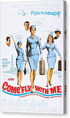 Come Fly With Me, Us Poster, From Left Canvas Print by Everett