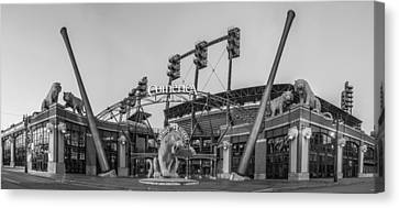 Comerica Park Black And White Canvas Print by John McGraw
