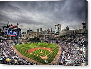 Comerica Park Home Of The Tigers Canvas Print by Shawn Everhart