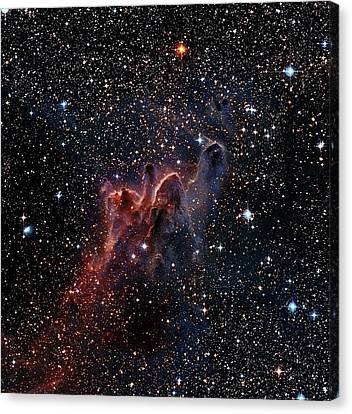 Cometary Globules In Vela And Puppis Canvas Print by Robert Gendler
