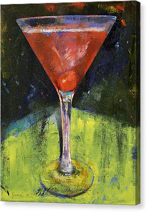 Comfortable Cherry Martini Canvas Print by Michael Creese