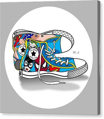 Comics Shoes 2 Canvas Print by Mark Ashkenazi