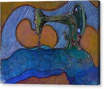 Coming Apart At The Seams Canvas Print by Dallas Roquemore