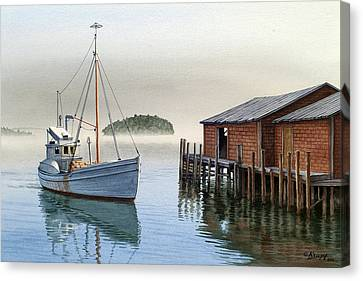 Coming In Canvas Print by Paul Krapf