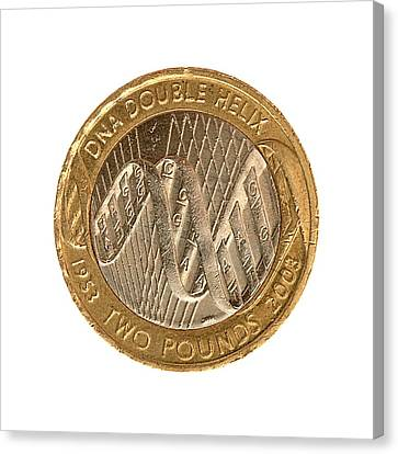 Commemorative Two Pound Coin Canvas Print by Public Health England
