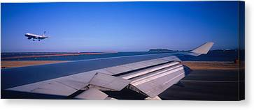 Commercial Airplane Taking Canvas Print by Panoramic Images