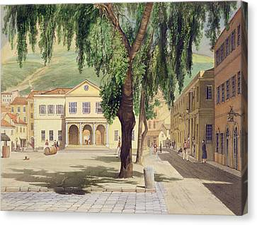 Commercial Square, The Commercial Canvas Print by Thomas Colman Dibdin