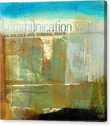 Communication With Canvas Print by Jane Davies
