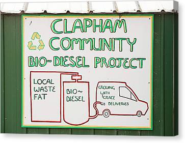 Community Biodiesel Project Canvas Print by Ashley Cooper