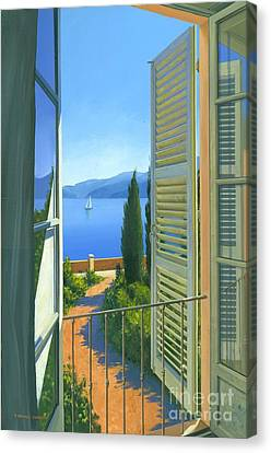 Como View Canvas Print by Michael Swanson