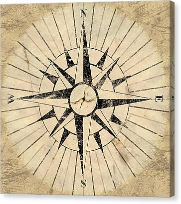 Compass Face Canvas Print by Allan Swart
