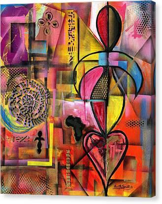 Compassionate Woman X2 Canvas Print by Everett Spruill