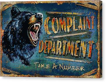 Complaint Department Canvas Print by JQ Licensing