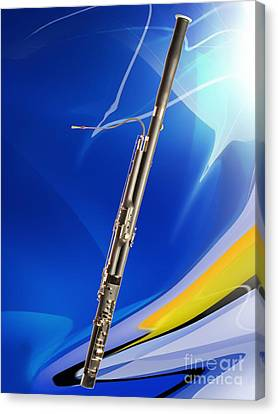 Bassoon Music Instrument Fine Art Prints Canvas Prints Greeting Cards In Color 3410.02 Canvas Print by M K  Miller