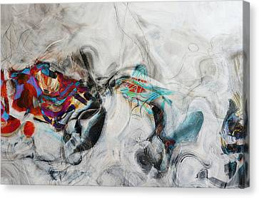Composition On White Canvas Print by Andrada Anghel